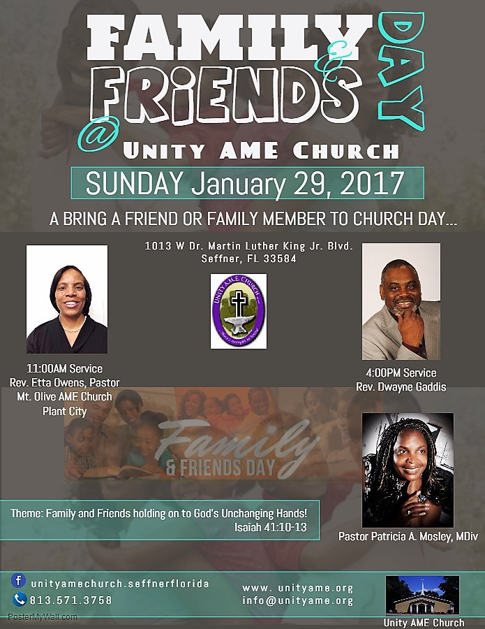 Sunday April 9 is Friends N Family Day at Greater Emmanuel ... |Themes For Family And Friends